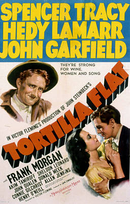 Postv Photograph - Tortilla Flat, Spencer Tracy, Hedy by Everett