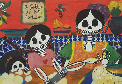 Tortillas Painting - Tortillas by Sonia Orban-Price