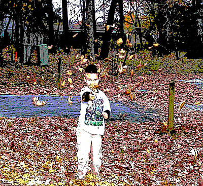 Photograph - Tossing Leaves by Pamela Hyde Wilson