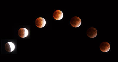 Changing Form Photograph - Total Lunar Eclipse by Jun Okada