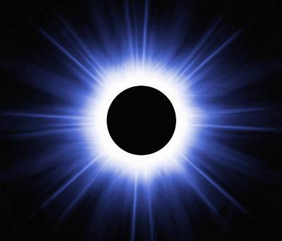 Total Solar Eclipse, Computer Artwork Art Print