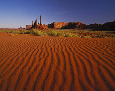 Totem Pole Rocks, Monument Valley Art Print by Brian Lawrence