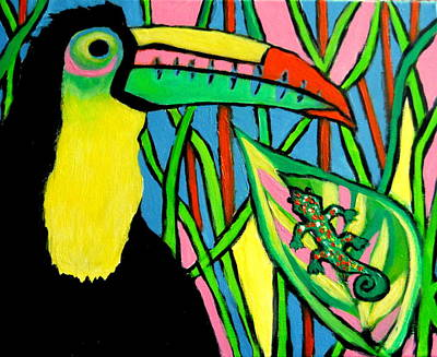Painting - Toucan Ted by Ted Hebbler