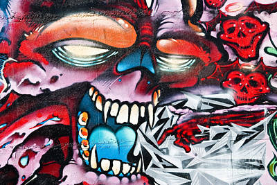 Grunge Skull Painting - Touch Of Death by Yurix Sardinelly