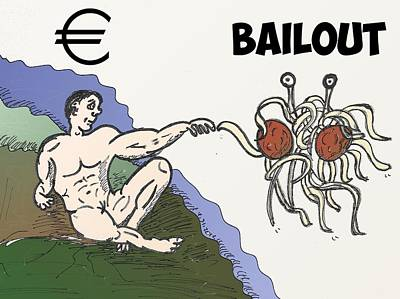 Financial Mixed Media - Touched By A Euro Bailout by OptionsClick BlogArt