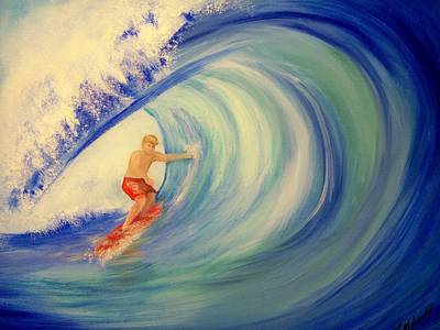 Touching The Wave Art Print by Lynda McDonald