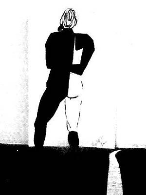 Contemplative Drawing - Tour De Dance - Modern Dance by Forartsake Studio