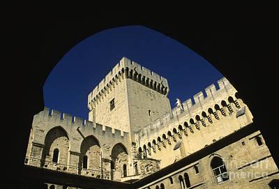 Castle Photograph - Tour Du Palais Des Papes En Avignon. by Bernard Jaubert