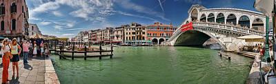 Photograph - Tourists At Rialto Bridge. Venice Italy by Juan Carlos Ferro Duque