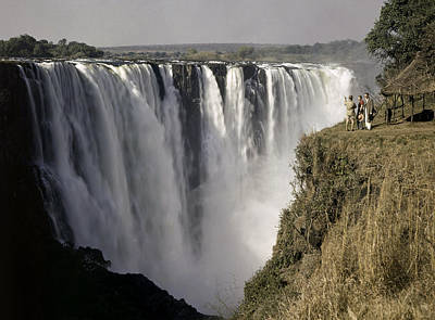 Zambesi River Photograph - Tourists Look Small Against Backdrop by W. Robert Moore