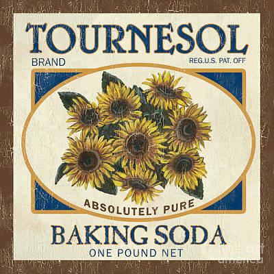 Floral Painting - Tournesol Baking Soda by Debbie DeWitt