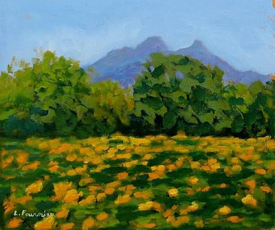 Painting - Tournesols Au Pic St Loup by Liliane Fournier