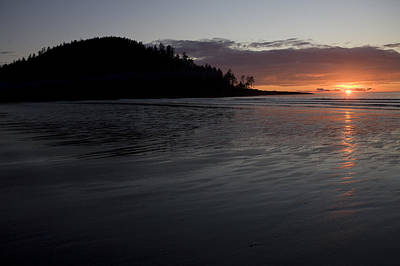 Queen Charlotte Islands Photograph - Tow Hill And North Beach At Sunset by Taylor S. Kennedy