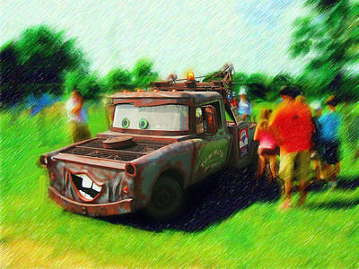 Art Print featuring the photograph Tow Mater Live by Mario Carini