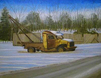 Painting - Tow Truck On Burgoyne Ave. by Mark Haley