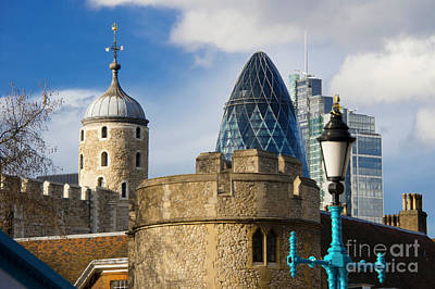 Tower Of London Digital Art - Tower And Gherkin by Donald Davis