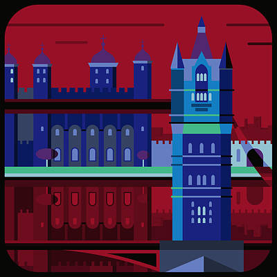 Tower Of London Digital Art - Tower Bridge And The Tower Of London, United Kingdom by Nigel Sandor
