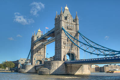 London Skyline Royalty-Free and Rights-Managed Images - Tower Bridge in London by Chris Day