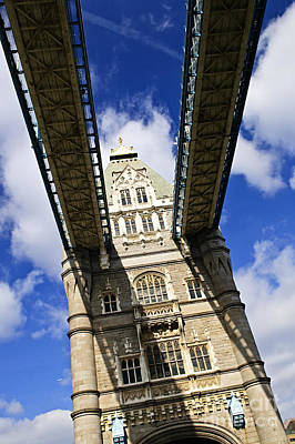Gothic Bridge Photograph - Tower Bridge In London by Elena Elisseeva