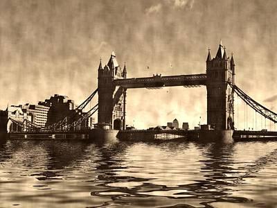 Canary Digital Art - Tower Bridge by Sharon Lisa Clarke