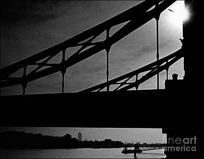 Tower Bridge Silhouette Art Print by Aldo Cervato