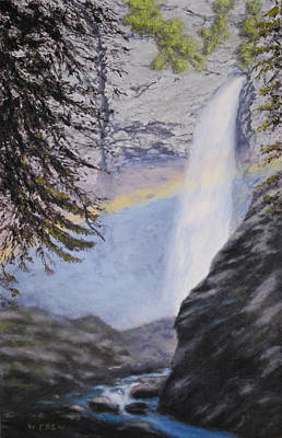 Painting - Tower Falls by William Frew