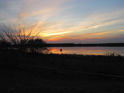 Photograph - Tower Lake Sunset Fishing by RobLew Photography