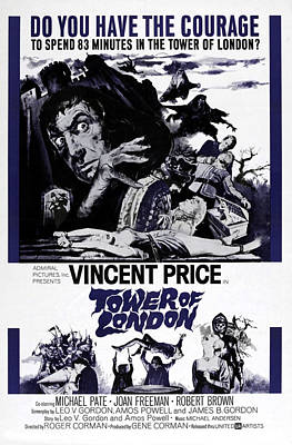 Jbp10ju18 Photograph - Tower Of London, Vincent Price Top by Everett