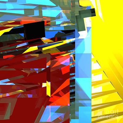 Digital Art - Tower Series 32 Golden Stairway by Russell Kightley