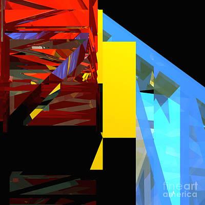 Digital Art - Tower Series 42 Diving Board by Russell Kightley