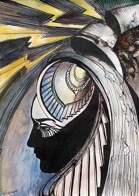 Art Print featuring the painting Tower Tarot by Valentina Plishchina