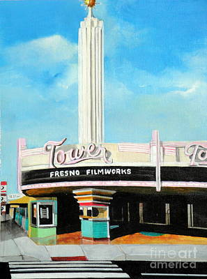Tower Theater Fresno Art Print