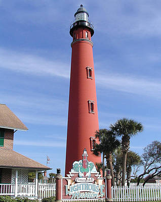 Towering Lighthouse Art Print by Barbara Middleton