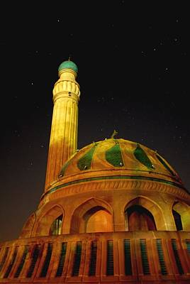 Towering Mosque In The Night Original by Rick Frost
