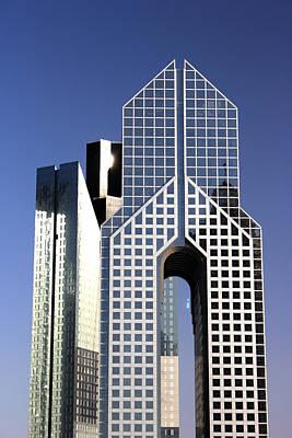 Photograph - Towers In Dubai by Radoslav Nedelchev