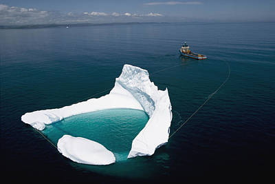 Towing An Iceberg From A Collision Art Print