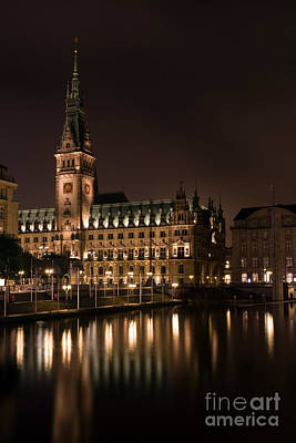 Photograph - Town Hall Hamburg by Jorgen Norgaard