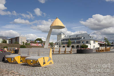 Town Square In Rakvere Art Print by Jaak Nilson