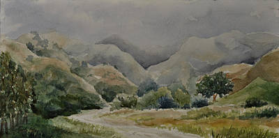 Painting - Towsley Canyon Morning by Sandy Fisher