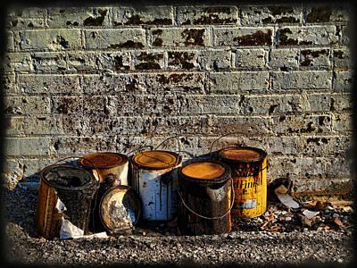 Asphalt Digital Art - Toxic Alley Grunge Art by Kathy Clark