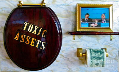 Theft Painting - Toxic Assets by Dawn Graham