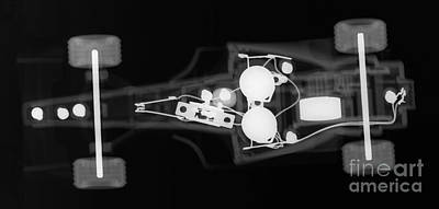 Photograph - Toy Car X-ray by Ted Kinsman