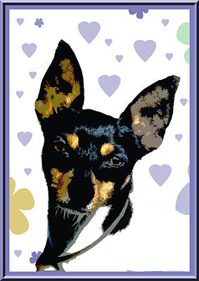 Fox Terrier Puppy Digital Art - Toy Fox Terrier by One Rude Dawg Orcutt