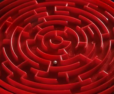 Maze Puzzle Photograph - Toy Maze by Martin Bond