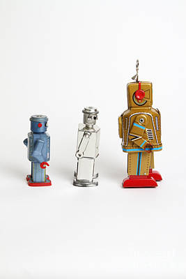 Photograph - Toy Robots by Photo Researchers Inc