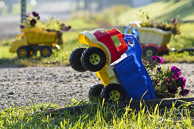 Toy Truck Photograph - Toy Truck Planters by Gordon Wood