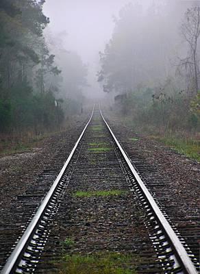 Tracks In Fog Art Print