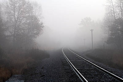 Photograph - Tracks In The Fog by Mark J Seefeldt