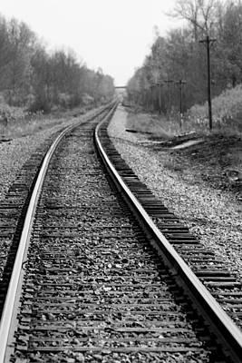 Photograph - Tracks Into Town by Mark J Seefeldt