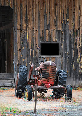Photograph - Tractor And The Barn by Donna Greene